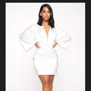A Good Thing Satin Mini Dress - Ivory
